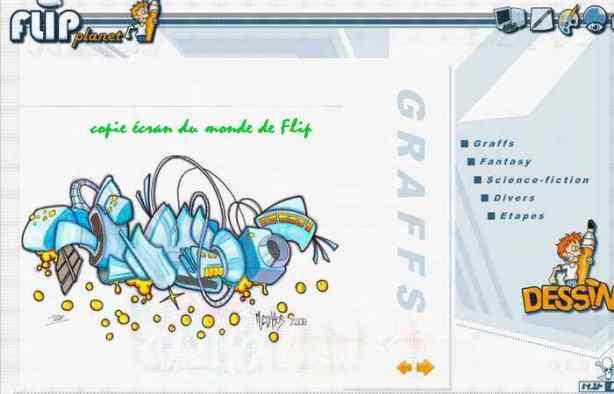 "Page orange de flip - un graff au ""hasard"""