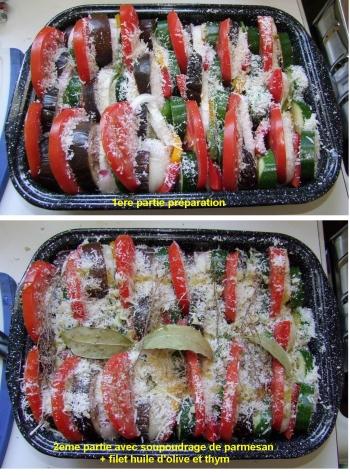 Présentation du plat en deux étapes